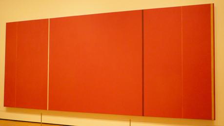 "Vic Heroicus Sublimis, Barnett Newman, 1950-51. Oil on canvas, 7' 11 3/8"" x 17' 9 1/4"" (242.2 x 541.7 cm). Taken in MoMa 2009."