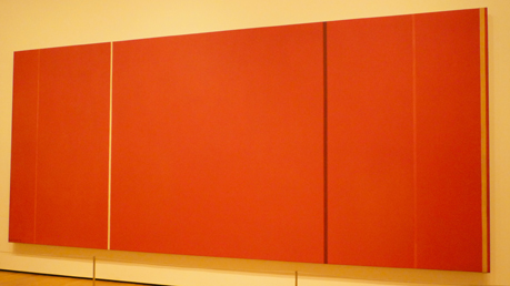 "Vic Heroicus Sublimis, Barnett Newman, 1950-51. Oil on canvas, 7' 11 3/8"" x 17' 9 1/4"" (242.2 x 541.7 cm). Taken in MoMa 2009."
