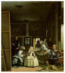 Diego Velázquez, Las Meninas, 1656, Oil on canvas. 318 cm × 276 cm (125.2 in × 108.7 in), Museo del Prado, Madrid