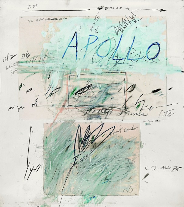 "Cy Twombly, ""Apollo and the Artist"" (1975)"