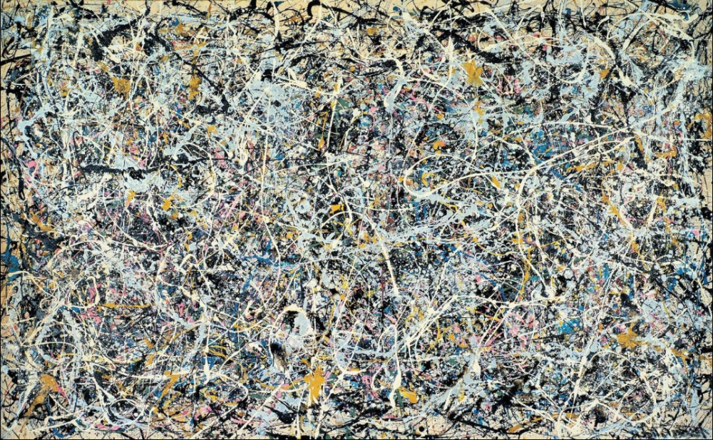 JACKSON POLLOCKNumber 1, 1949, 1949Enamel and metallic paint on canvas63 × 102 in160 × 259.1 cm© 2012 Artists Rights SocietyThe Museum of Contemporary Art, Los Angeles