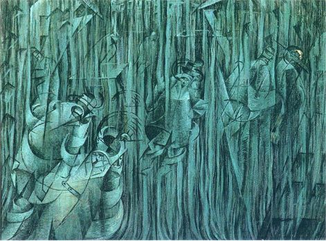 Umberto Boccioni, States of Mind III: Those Who Stay, 1911, oilDimensions95.9 × 70.8 cm (37.8 × 27.9 in)