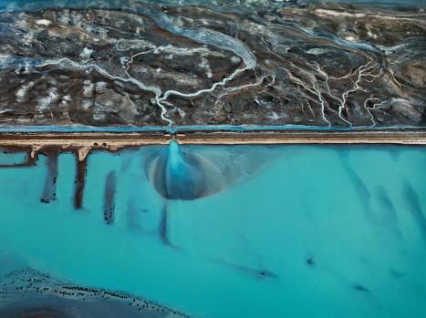 Edward Burtynsky, Water: Cerro Prieto Geothermal Power Station, Baha, Mexico. (2012)