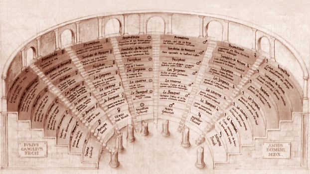 Drawing of L'Idea del Theatro dell'eccellen